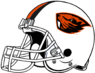 NCAA-PAC12-Oregon State Beavers white helmet-white facemask-right side