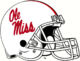 NCAA-SEC-Ole Miss Rebels White Helmet