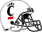 NCAA-AAC-Cincinnati Bearcats White Helmet