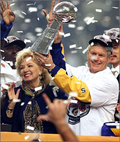 Dick Vermeil Georgia Frontiere Super Bowl XXXIV