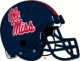 NCAA-SEC-Ole Miss Rebels Navy Blue Helmet