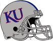 NCAA-Big 12-Kansas Jayhawks Silver Blue Striped helmet