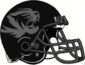 NCAA-SEC-Mizzou Tigers Black & Silver Alt large logo helmet