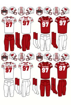 NCAA-Big 10-Wisconsin Badgers Jerseys