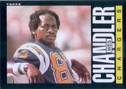 Wes Chandler 1985 Topps card