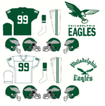 NFL- NFC-PHI -1955-68 Eagles Logos andJerseys