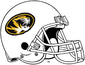 NCAA-SEC-Mizzou Tigers White helmet w. facemask