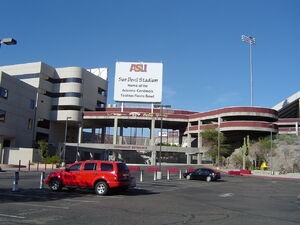 Sun Devil Stadium in Tempe Arizona