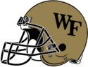 NCAA-ACC-Wake forest gold helmet-right side
