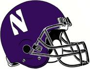 NCAA-Big 10-Northwestern Wildcats Helmet