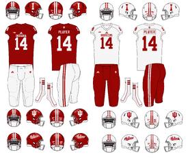 NCAA-Big 10-Indiana Hoosiers Uniforms