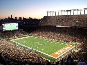 Darrell K Royal-Texas Memorial Stadium at Night
