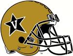 NCAA-ACC-Vanderbilt Commodores Gold Anchor Down helmet