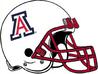 NCAA-Pac-12-2017 Arizona Wildcats white helmet red mask