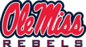 Ole Miss Rebels Alternate Logo-Navy Blue