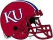 NCAA-Big 12-Kansas Jayhawks Red striped helmet