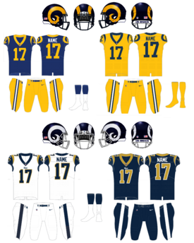 NFL-NFC-LA Rams uniforms 2018