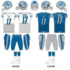 Composite Detroit Lions uniforms 2017