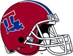 NCAA-USA-LA Tech BullDogs Red striped helmet