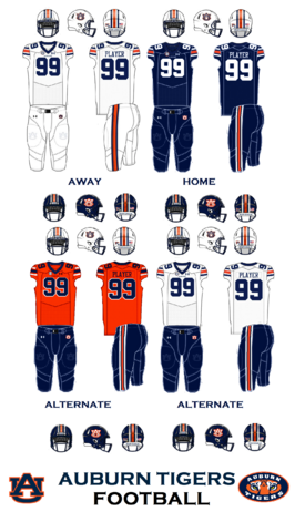 Auburn Tigers-NCAA Division I Jerseys