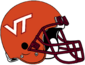 NCAA-ACC-2019 VT Hokies Orange Helmet
