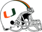 NCAA-ACC-Miami Hurricanes White helmet