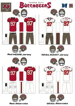 NFL NFC Uniforms TB-1105px
