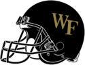 NCAA-ACC-Wake forest black helmet-right side