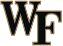 NCAA-ACC-Wake Forest Demon Deacons black gold trim logo
