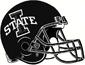 NCAA-Big 12-Iowa Cyclones B&W Helmet