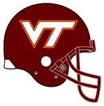 NCAA-VT Hokies-Helmet