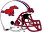 NCAA-AAC-SMU Mustangs Retro White helmet