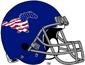 NCAA-AAC-SMU Mustangs Satin Blue Patriotic helmet