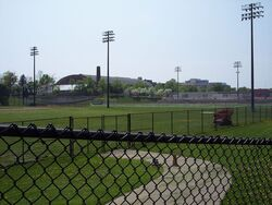 War Memorial Stadium Rockpile field