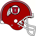 NCAA-Utah-Utes Red Helmet white facemask