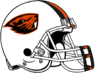NCAA-PAC12-Oregon State Beavers helmet-white-3color facemask
