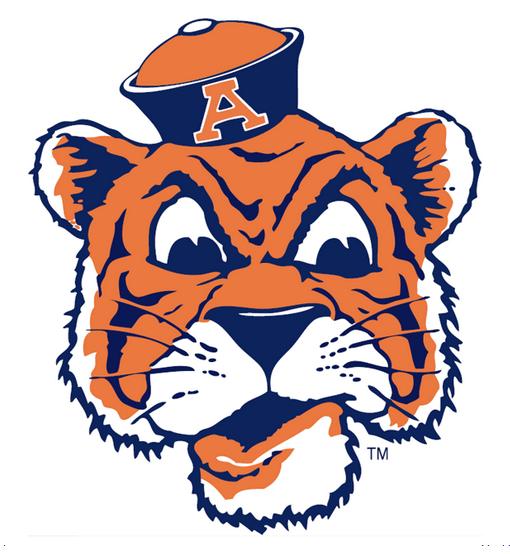 image auburn tigers 1957 81 aubie the tiger logo png american rh americanfootball wikia com Auburn Tigers Logo Black and White Auburn Tigers Wallpaper
