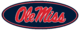 Ole Miss Oval logo-Navy Blue
