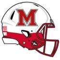 NCAA-MAC-2019 Miami Redhawks main logo - White Schutt hlmet