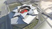 New Atlanta Falcons Stadium overhead February 2014
