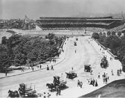 Forbes Field and street