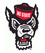 NC State Wolfpack Wolf Mascot head logo 2006-present