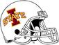 NCAA-Big 12-Iowa State Cyclones White helmet