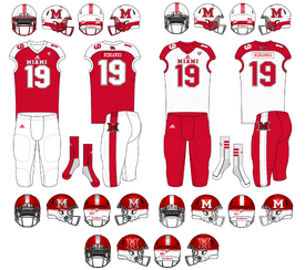 NCAA-MAC-Miami Redhawks uniforms