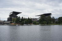 Husky stadium from Lake Washington