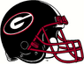 NCAA-SEC-Georgia Bulldogs Black helmet red facemask 2