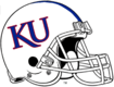 NCAA-Big 12-Kansas Jayhawks White Blue Striped helmet