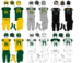 NCAA-Pac-12-2011-14 Oregon Ducks jersey swatches