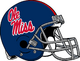 NCAA-SEC-Ole Miss Rebels Yale Blue Alt Helmet