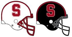 Stanford Cardinal Helmets